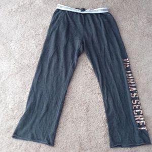 Victoria's Secret Gray Wide Leg Sweat/Sleep Pants
